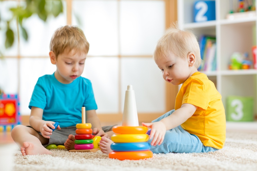 toddlers playing indoor